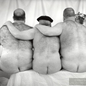 """""""Three Men and a Bench, 2016"""" chosen for """"Deja Nude,"""" Cleveland Photo Fest, 2021"""